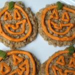 Pumpkin face cookies