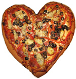 gluten free pizza heart