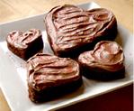 gluten free valentine brownies